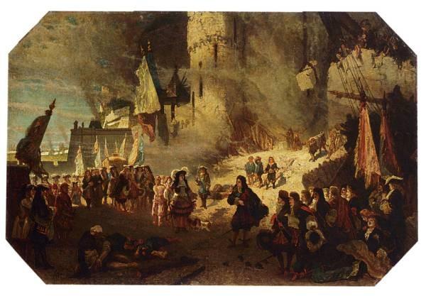 Vauban En Van Coehoorn Voor De Vesting Namen 1692